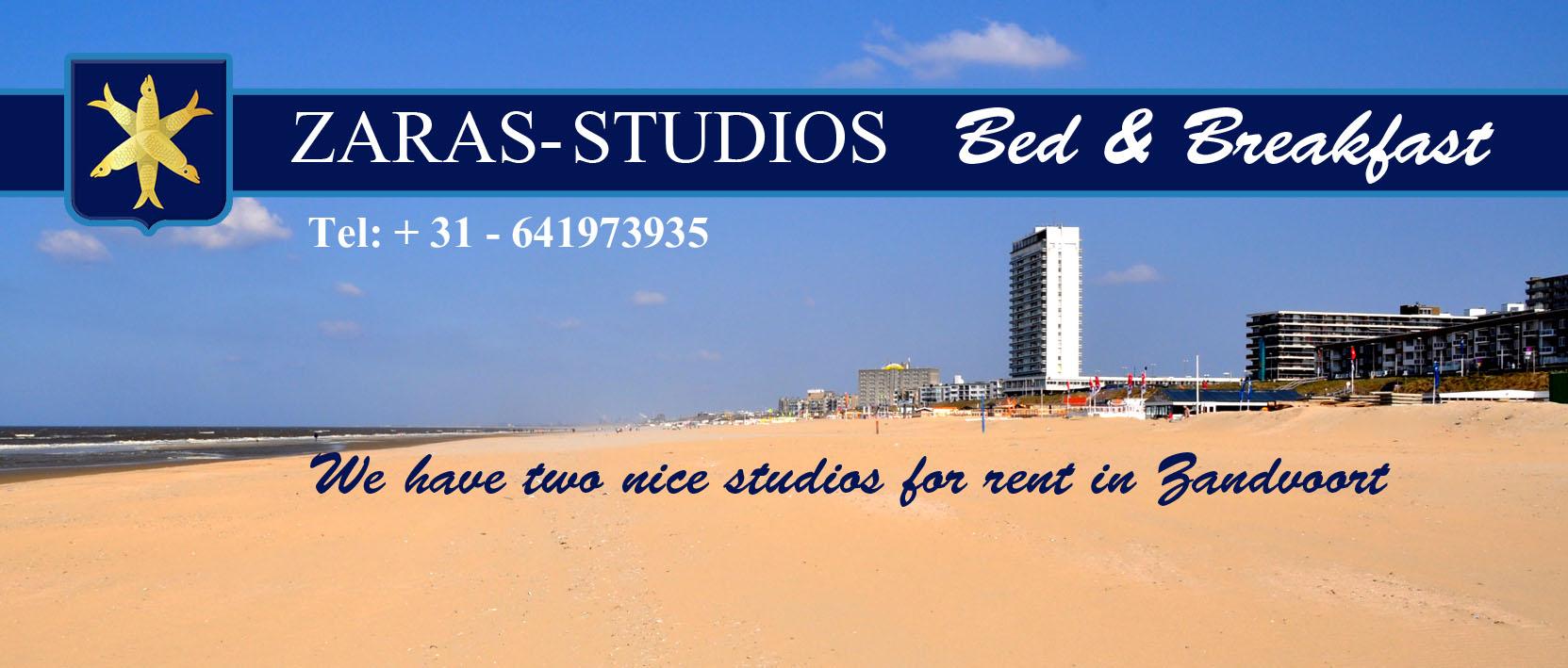 Zaras Studios - for rent in Zandvoort
